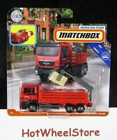 2018 Matchbox  WORKING RIGS  MAN TGS FLATBED CARGO HAULER  Moving Parts