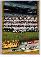 Minnesota Twins 2020 Topps Decades Best 5x7 Gold #DB-26 /10 Twins