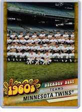 Minnesota Twins 2020 Topps Decades Best 5x7 Gold #DB-26 /10 Twins