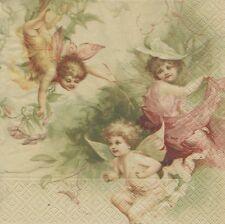 2 Serviettes en papier Fées Decoupage Paper Napkins Fairies Sagen Vintage Design