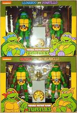 Lot of 2 Neca TMNT 1988 Leonardo Donatello Raphael Michelangelo 2 packs MISB