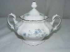 Vintage Johann Haviland China Bavaria Germany Blue Garland Sugar Bowl with Lid