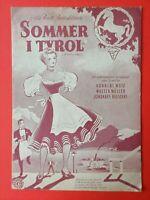 """Vintage Danish Film Program. """"Im weissen Rössl"""" Hannerl Mätz.German film."""