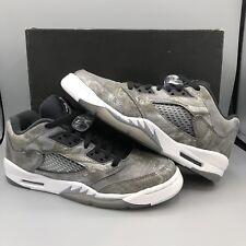 Nike Air Jordan Reto V Prem Low GG Barons Grey Black Size 7y 819951 003 Metallic