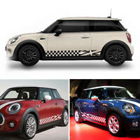 Car Body Both Sides Decoration Sticker For MINI Cooper Decal Lattice Style Black