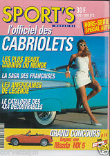 SPORT'S HORS SERIE N°3 - HORS SERIE SPECIAL AUTO