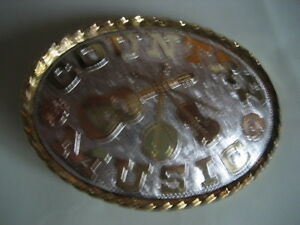 COUNTRY MUSIC     LADIES VERSION   BELT  BUCKLE  (BA94)