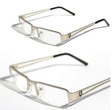 New Khan Clear Rectangular Half Rimless Metal Reader Reading Glasses +1.75