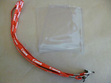 "NEW 18"" CANON LANYARD I.D. / EVENT PASS HOLDER CLIP KEY CORD NECK STRAP 4 PCS."