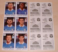 Panini Euro 2012 stickers Extra Update Sheet Italy 6 stickers MINT