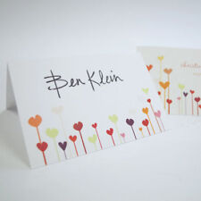 24 Personalized Colorful Hearts Wedding Place Cards