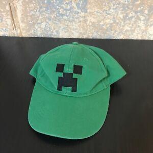 Jinx Minecraft Creeper Face Cap Video Gamer Logo Snap Back Baseball Hat