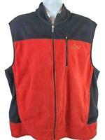 Greg Norman Tasso Elba Golf Mens Full Zip Fleece Sweater Vest Size XL