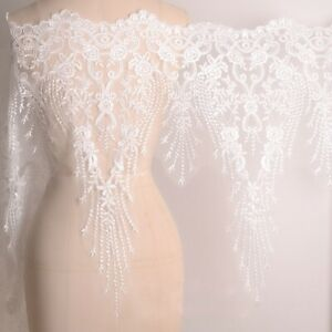 Women Large Wedding Fabric for Dress Bridal Embroidery Lace Mesh DIY Flower