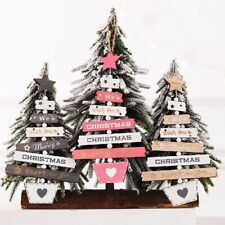 Christmas Tree Wooden Pendant Hanging Xmas Home Party Decor Door Ornaments 2020