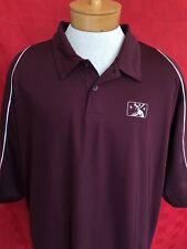 NEW Maroon Minor League Baseball MiLB MLB Golf Polo Shirt size XXL Holloway