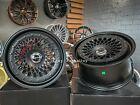New 18 5x112 Rotiform Style Stance Deep Dish Black Wheels For Bmw Audi Mercedes