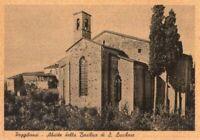 POGGIBONSI (SIENA) - BASILICA DI S. LUCCHESE - RARA CARTOLINA - ANNI '30