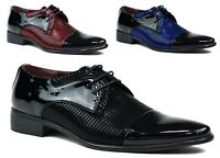 MENS NEW LACE UP WEDDING / PARTY OFFICE FORMAL PATENT SHOES UK SIZES 6-12