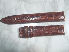VINTAGE 17X16 MM CHRONOSWISS BROWN CROCODILE LEATHER BAND STRAP            *6943