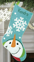 Felt Embroidery Kit Dimensions Catching Snowflakes Christmas Stocking #72-08189
