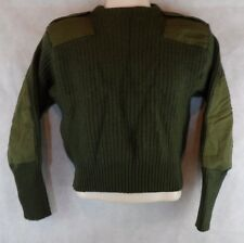 DSCP VALOR COLLECTION ~ 100% WOOL ~ OD Green US Army Commando Sweater Size 36
