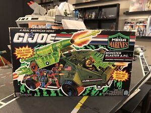 GI Joe MEGA MARINES MONSTER BLASTER A.P.C. Open Box with Sealed contents