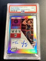 TRAE YOUNG 2018 CONTENDERS OPTIC #124 FACING RIGHT AUTO ROOKIE RC PSA 9 NBA