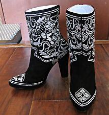 Women's Plomo Zippered Boots – Pilar – Ante Negro – Size 38 EUR - NIB