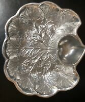 VINTAGE RWP THE WILTON COMPANY Clam Theme Pewter Dip/Relish Dish