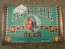 New listing Original 1930's Apache Beer Arizona Brewing Co Phoenix 11 Oz Label Nice