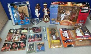 LeBron James Rookie Card Lot (20) UD Playmaker Bobblehead McFarlane Figurines
