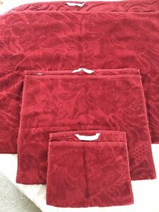 3 Dark Maroon Zara HOME Towels - 1 Bath, 1 Face And 1 Hand Towel-Read Descript