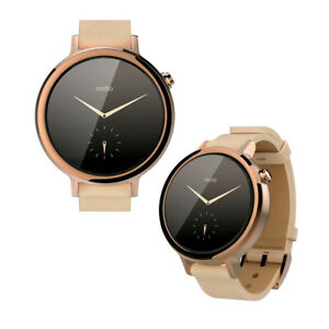 Motorola MOTO 360 2nd Gen 42mm Android Wear - Rose Gold-Blush Leather Smartwatch