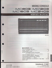 Yamaha Mixing Console Mc803 Thru Mc2403 Service Manual Schematics Parts List