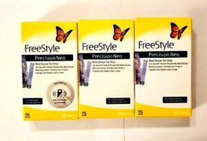 New Retail FreeStyle Precision Neo Diabetic Test Strips 75 Ct Exp 2022