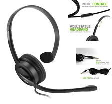 Premium 2.5mm Hands-Free Mono Headset + Boom Mic for Office Home Business Phone