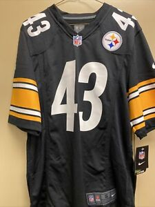 NWT Mens Nike Troy Polamalu Steelers Jersey S Authentic