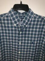 Polo Ralph Lauren Men's ClassicFit Long sleeve Button Down Blue Green M EUC