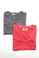 Sundry #AlldayNSF Womens Short Sleeve T-Shirts Gray Pink Size 0 S Lot 2