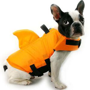 Dog Life Vest Summer Shark Pet Life Jacket Dogs Swimwear Pets Swimming Costumes