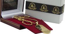 Etiqueta de identificación de Oración Serenidad 24K Collar de lujo revestido de oro recuperación Regalos drogas AA na