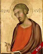 ST LUKE APOSTLE OF JESUS CHRIST PAINTING CHRISTIAN BIBLE ART REAL CANVAS PRINT