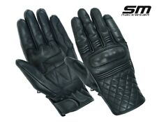 MEN MOTORCYCLE BIKER RIDING 100% COW LEATHER SM RAMBLER GLOVES