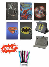 "Common Universal Tablet 7"" & 8"" inch Cover Case Kids Cartoon Batman PU Leather"