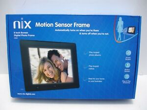 NEW NIX X08D 8 INCH SCREEN MOTION SENSOR DIGITAL PHOTO FRAME