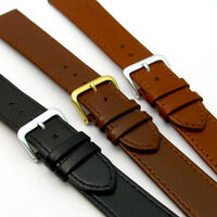 Comfortable Flexible Leather Watch Band Buffalo grain 16mm - 22mm