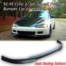 TR Style Front Bumper Lip (Urethane) Fits 92-95 Honda Civic 2dr