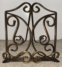 Princess House Bronze Metal Cookbook Stand Display Holder Easel - EUC!