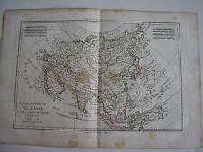 CARTE générale de l' ASIE par BONNE carte ancienne 1781   61